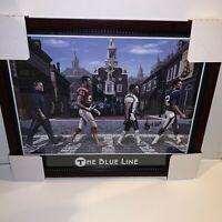 New England Patriots The Blue Line Photo Custom Framed to 16x20 Tom Brady Gronk