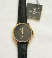 MIchel Herbelin FRENCHMADE Ladies Watch Swiss Movement gold plated black face