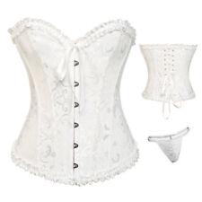 Sexy Women Overbust Corset Top Lace Up Boned Burlesque Halloween Costume Party