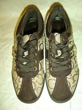 Guess Women'S Brown Multi Tennis Shoes Size 6 Wgallian Nwt Free Shipping