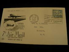F.D.C. Scott 414 Jet plane  1964 Canada Cover P636