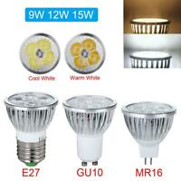 9W 12W 15W GU10 E27 MR16 AC 85-265V LED Bulb Spot Light Lamp 12V LED FZ