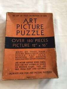 """Vintage Tuco Art Picture Jigsaw Puzzle """"The Shepherdess"""" 192 Pieces Complete"""