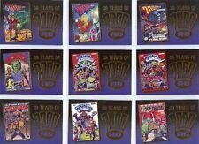 2000AD Judge Dredd Full 9 Card Gold Foil Chase Set - Strictly Ink