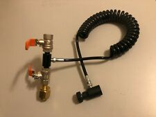 Paintball Dual Valve Lever Co2 Refill System - For SodaMod or Paintball Tanks
