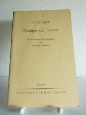 Oedipus der Tyrann | Carl Orff von Friedrich Hölderlin