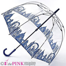 Fulton London Icons Ladies Clear Dome Birdcage Walking Umbrella Hook Handle