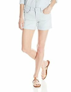 RARE LEVIS Low Rise Mid Length Cuffed Stretch Shorts Summer Haze Rinse Sz 8/29