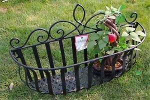Retro Metal Hanging Box Basket Garden Flower Potted Tool Wall Mounted Decors