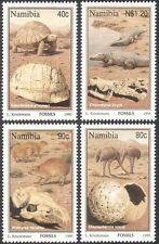 Namibia 1995 FOSSILI/Tartaruga/Coccodrilli/Birds/rettili/Animali 4 V Set (b1381)