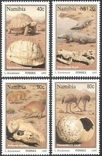 Namibia 1995 Fossils/Tortoise/Crocodiles/Birds/Reptiles/Animals 4v set (b1381)