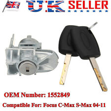 Replace Front Door Lock Cylinder Repair and 2 Keys For Ford Focus C-Max S-Max WA