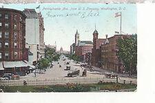 Pennsylvania Avenue from Treasury   Washington D.C. Mailed 1906 DB Postcard 3117