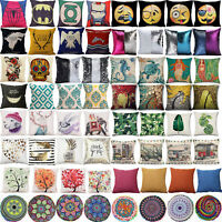 Vintage Floral Printed Pillows Case Sofa Throw Cushion Cover Bed Home Decoration