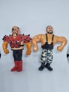 Job Lot Of 2 x Vintage Replica WWF Wrestling Figures - 1991
