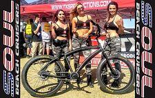 26x4 Fat Tire Beach Cruiser Bike - SOUL STOMPER Black OPS - NEW single speed