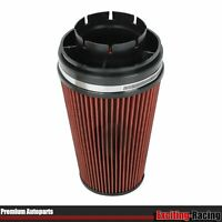 """RED 4"""" Inlet Cold Intake High FLow Round Cone Air Filter for GMC/Chevy"""