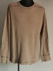 Tommy Hilfiger mens cotton long sleeve beige jumper size XL/XG