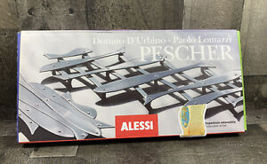 """Alessi """"Pescher"""" Expandable 18/10 Mirror Polished Stainless Steel Trivet Italy"""