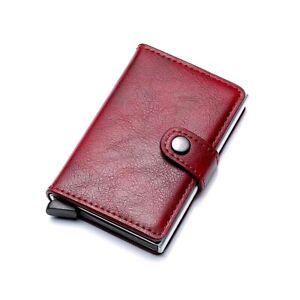 Mens RFID Blocking Leather Credit Card ID Holder Pop Up Slim Card Case Wallet