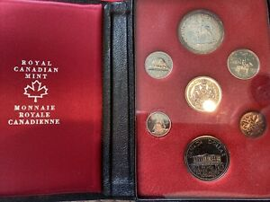 1973 Canada Commemorative 7 Coin Set - Royal Canadian Mint - Silver Dollar -