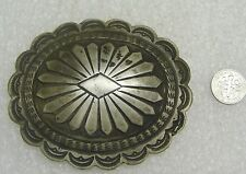 VINTAGE MEXICAN 725 SILVER CONCHO BELT BUCKLE FOR 1 1/2- 1 3/4'' BELT N165-C