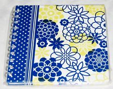 "Inovative Designs White Blue Yellow 6X6"" Journal Book - 100 Pages"