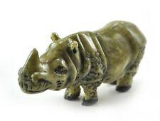 Vintage Chinese Japanese Rhino Rhinocero animal Resin Figurine Netsuke