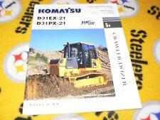 Komatsu D31PX-21 D31EX-21 Dozer Dealer's Brochure