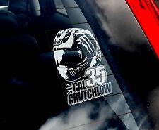 Cal Crutchlow #35 - MotoGP Car Window Sticker - Moto GP HELMET Design Sign -TYP2