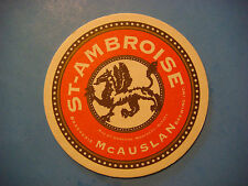 Beer Drink Coaster ~*~ McAuslan Brewing St Ambroise ~*~ Quebec, Canada Brasserie