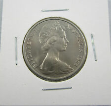 1968 20 cents. An uncirculated and scarce coin. Key date to a set
