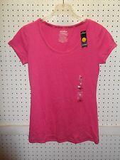 JOE BOXER Jr Sz Medium Pink Slub Scoop Tee Sleep T-Shirt Top FREE Shpg NWTA