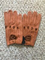 Men's Driving Tan leather Gloves  Size Large