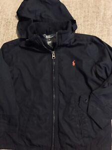 Polo Ralph Lauren Boys Navy Lined Windbreaker Jacket Size 4/4T