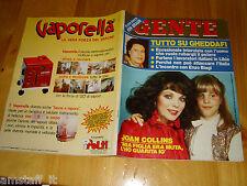 GENTE=1986/18=JOAN COLLINS=GHEDDAFI=SERENA GRANDI=VANESSA REDGRAVE=SENUSSI IDRIS