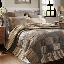 SAWYER MILL Charcoal Patchwork (KING) Quilt Farmhouse Country*NOW ON SALE!