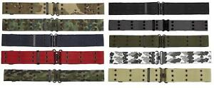 Army Belt Combat Military Tactical Pistol Camo Holster Pouches Webbing Eyelet