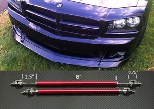 "Red 8""-11"" Strut Shock Rod Bar for Dodge Bumper Lip Diffuser Spoiler splitters"