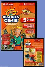 CD-Rom - Graines de Génie 5e -12 ou 13 ans - Occasion.