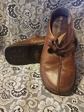 Michel China Women's Brown Leather Mary Jane Shoes Size 7M