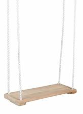 Kinderschaukel Holz-Brettschaukel SCHAUKEL aus Hartholz 40 x 17 cm PE-Seil Ø10mm