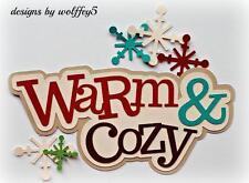 Craftecafe Winter Title paper piecing premade scrapbook diecut piece Wolffey5