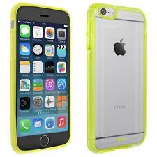 Schutz Hülle für Apple iPhone 6 Case Tasche Handy Cover Silikon Acryl Glas gelb