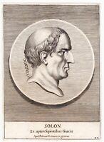 Portrait XVIIe Solon Athènes Grèce Σόλων Athens Greece 1685