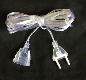 Plug Extension Cable Extender Wire EU/US Plug Long String Christmas Lights Decor