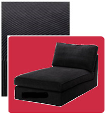 "IKEA Kivik Chaise Lounge Cover Tranas Black(MatesAvail)Corduroy""Longue""Chair NEW"