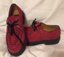 Vintage GBX Red Suede Leather Mens 8.5  Platform