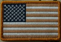 USA AMERICAN FLAG Tactical Combat MILITARY DESERT PATCH Hook and Loop