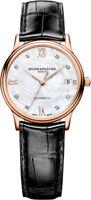 Brand New Baume & Mercier Classima 10077 Diamond Rose Gold Women's Watch
